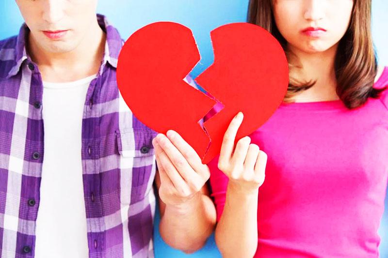 разбитое сердце любви